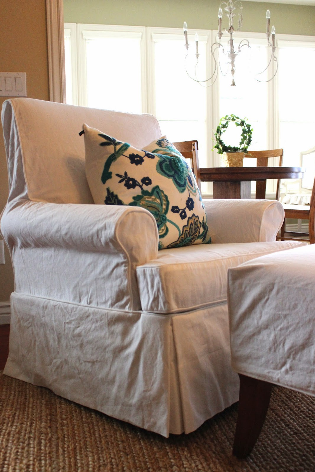 Armchair And Ottoman Slipcover Set Zebra Desk Chair Custom Slipcovers By Shelley Chairs Ottomans Dining