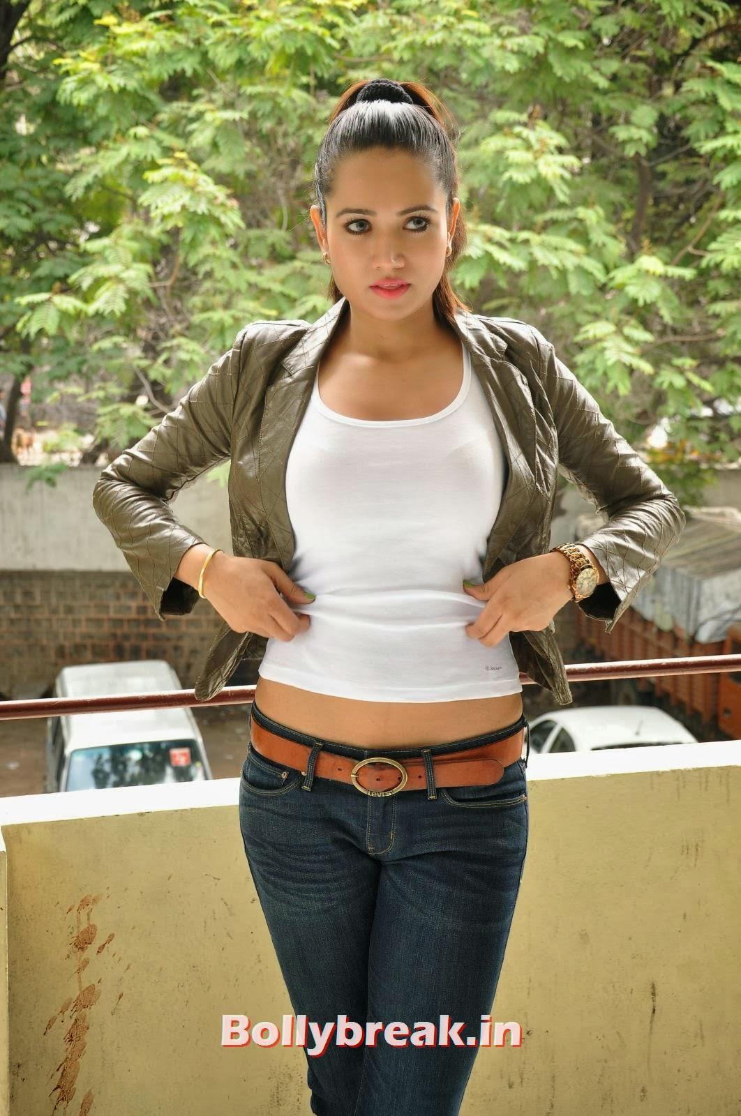 , Sunitha Rana Photoshoot in Tank Top & Jeans