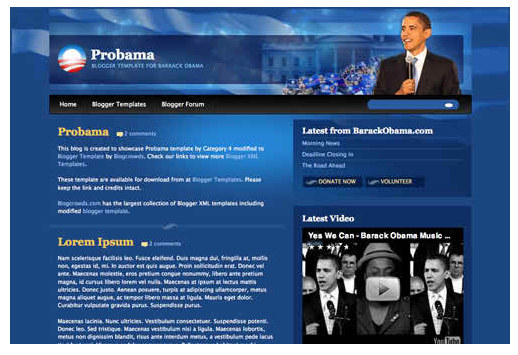 free blogger templates probama
