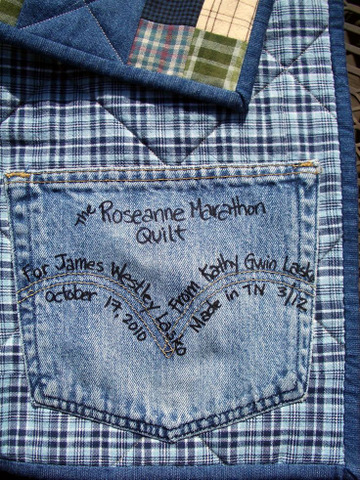denim pocket quilt label