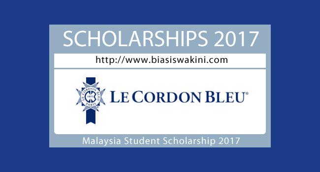 Le Cordon Bleu Scholarship 2017- Malaysia Student Scholarship