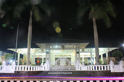 Kuningan Regent Office at night