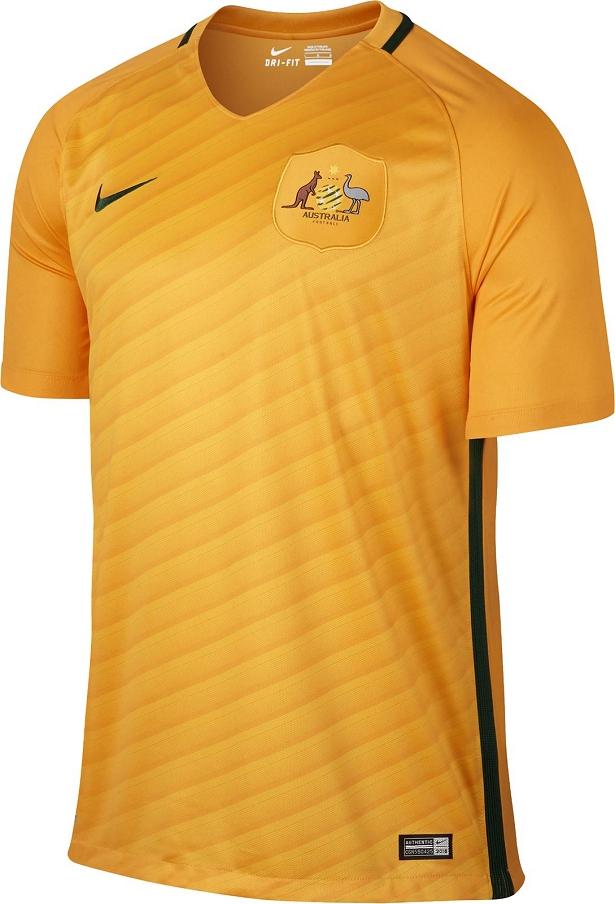 4a31ab8b71644 A Nike apresentou o novo uniforme titular que a seleção de futebol da  Austrália usará durante a temporada 2016 17. O modelo é predominantemente  amarelo com ...
