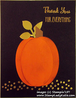 Fall Pumpkin Punch Art Card using Stampin'UP!'s Petal Palette Stamp Set by StampLadyKatie