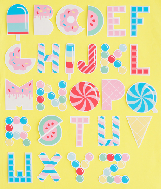 Guirnalda de letras para imprimir for Guirnaldas para imprimir