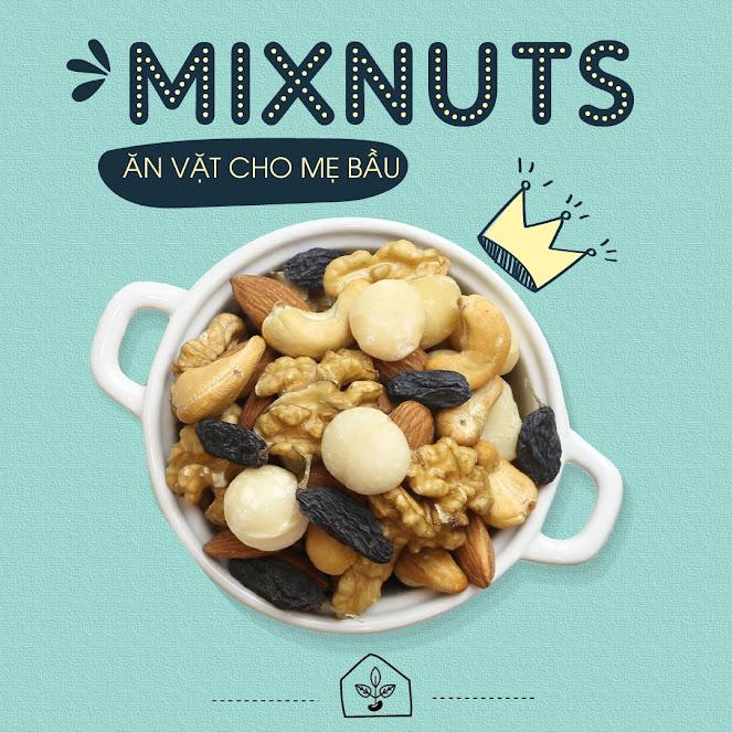 Mixnuts 5 loại hạt siêu bổ dưỡng cho Bà Bầu