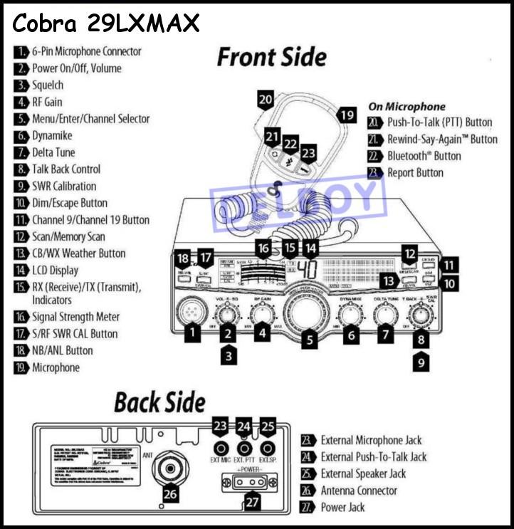 cobra 29 mic wiring for pinterest