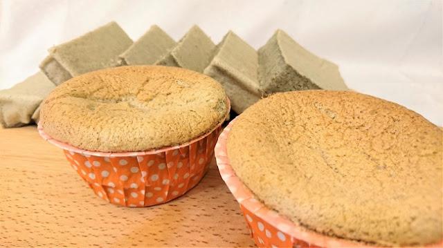 米蛋糕做法(二):椰香紫米杯子蛋糕/水蒸蛋糕完成