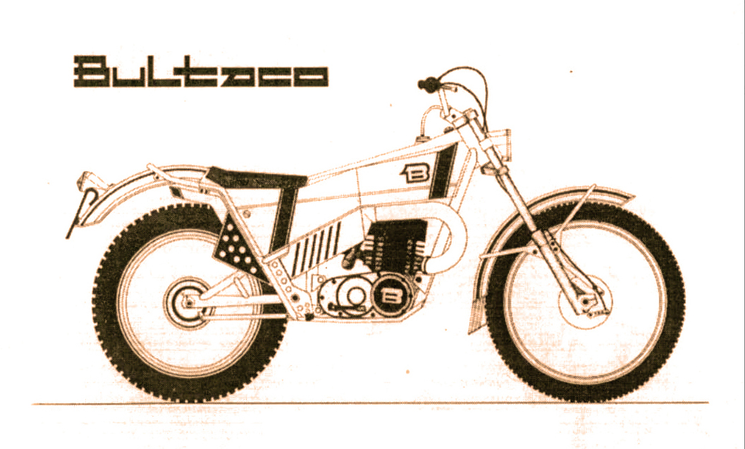 Drawing of motorcycle.