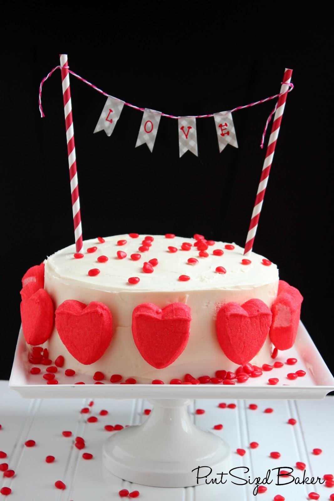 Simple, yet Pretty Valentine's Cake - Pint Sized Baker
