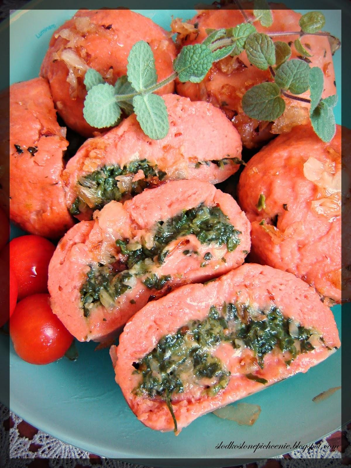 Pomidorowe kluski ziemniaczane ze szpinakiem