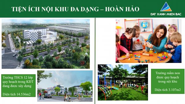 Hình ảnh tổng quan tiện ích nội khu Trường học thuộc dự án Uông Bí New City - Yên Thanh Quảng Ninh