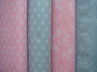 Kombinácia bavlnených látok zo vzorom batiky
