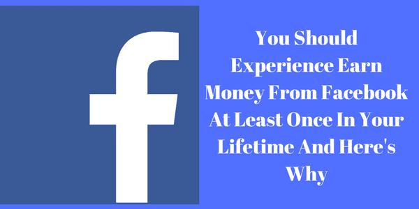 earn money on facebook
