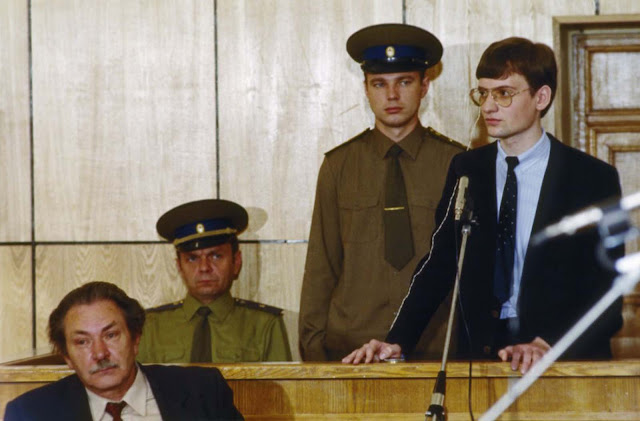 Mathias Rust on trial for invading Soviet air space.