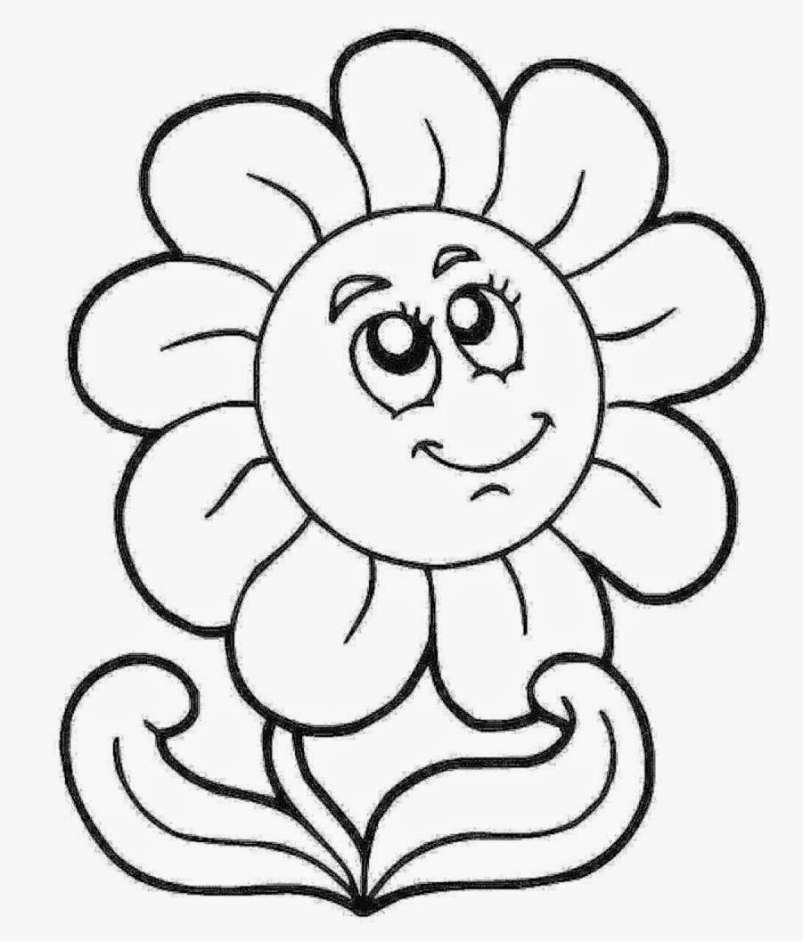 flower coloring pages for kids free coloring pages