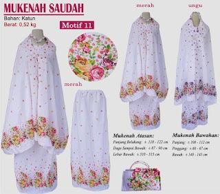 Grosir Mukenah Bali cantik -saudah motif 11