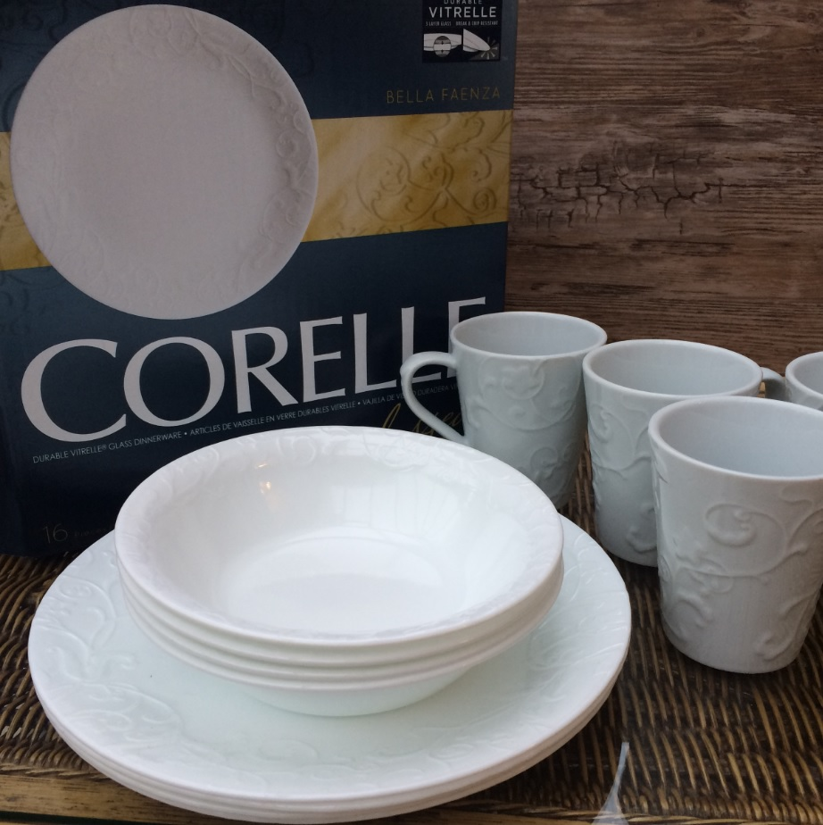 I have been using Corelle dinnerware in my kitchen for many years and I love all the beautiful designs they come up with. Some bold and bright and then the ... & simply.food: Corelle Embossed™ Bella Faenza 16-pc Dinnerware Set ~I ...