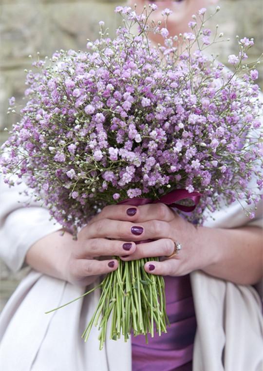 Bouquet Inspired Manicure ideas wedding 2016
