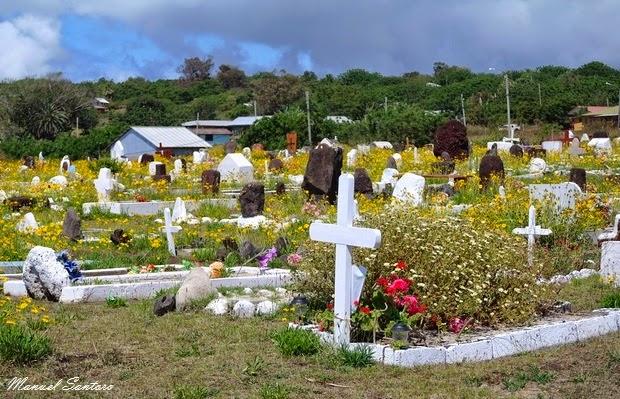 Isola di Pasqua, Hanga Roa, cimitero