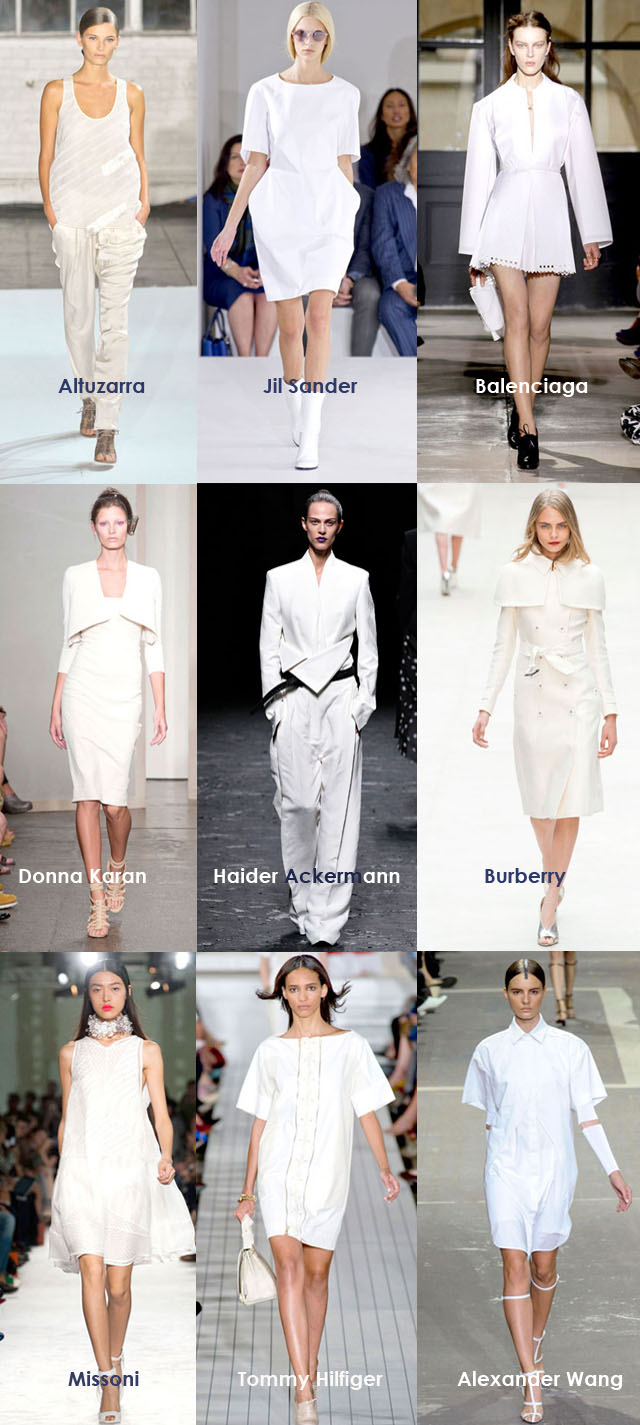 Spring 2013 Trends, White Minimalist Moment
