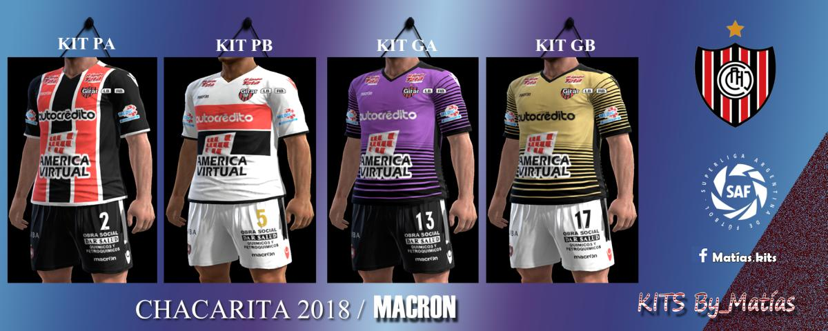 PES 2013 Kits C.A Chacarita Juniors 2018 By MatíasKits