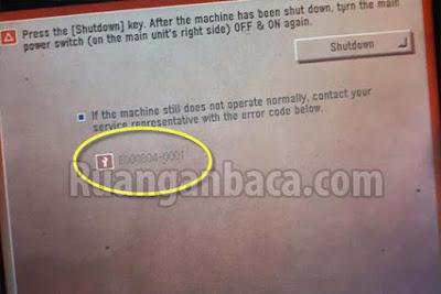 Solusi Memperbaiki Error E804 Mesin Fotocopy Canon IR