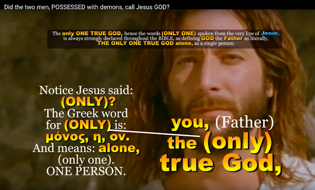 John 17:3 GOD the Father is the ONLY TRUE GOD. Said Jesus.