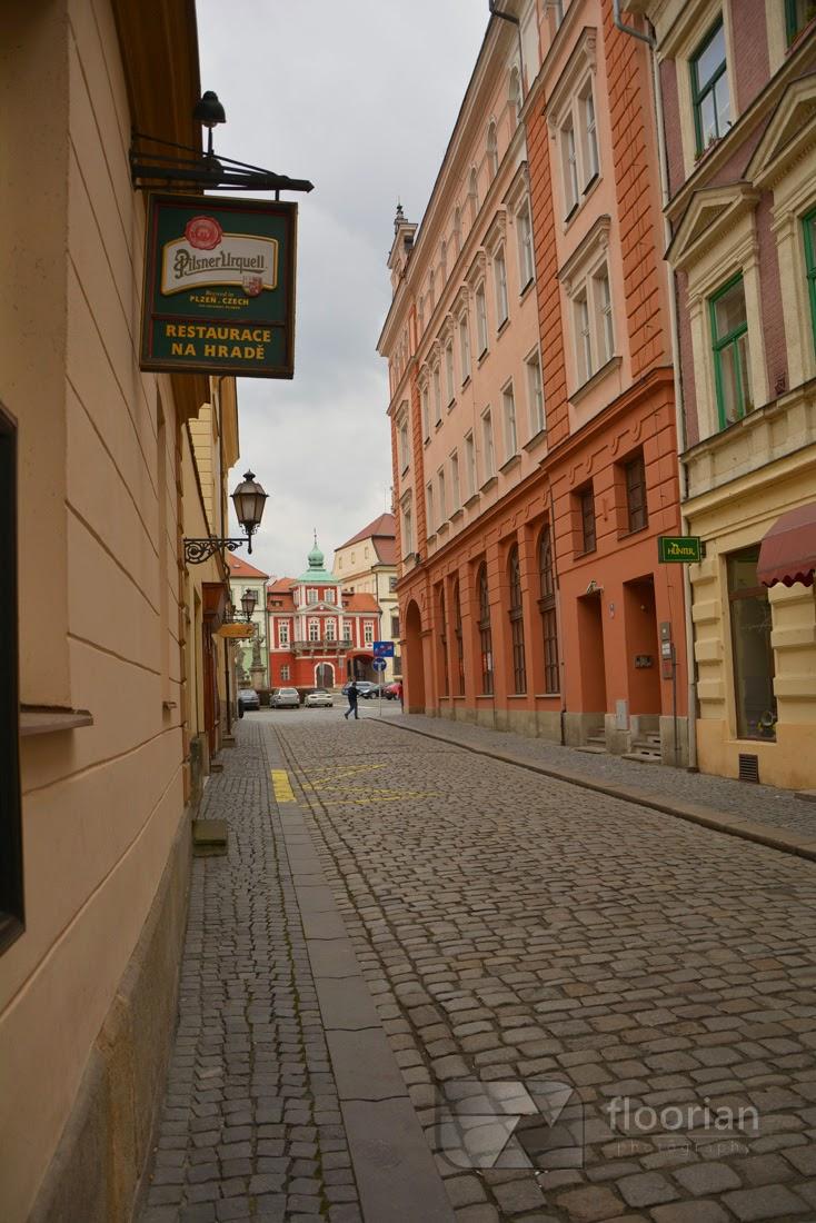 Piękne kamienice w Hradec Králové.