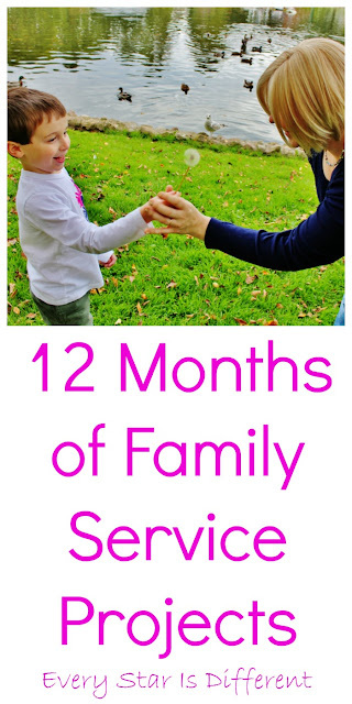 12 Months of Service Projects for Families