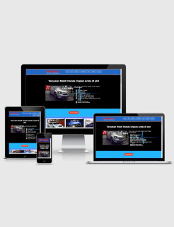 Honda Landing Page Blogspot Builder Responsive