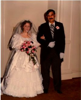 Suzanne and her Daddy at our wedding