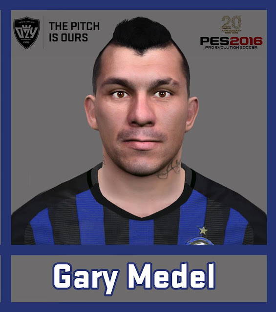 PES 2016 / PES 2017 Gary Medel (FC Internazionale) Face by Ozy_96 PESMOD