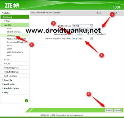 Cara Mudah Setting Nama Serta Password Wifi zte f609