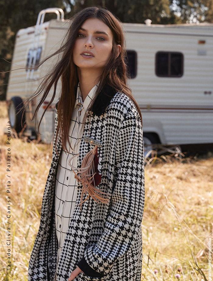 Sacos y abrigos invierno 2019 a cuadros moda mujer invierno 2019.