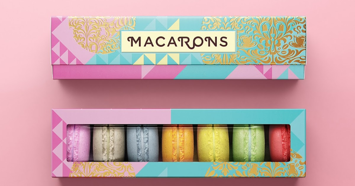 Macarons On Packaging Of The World Creative Package