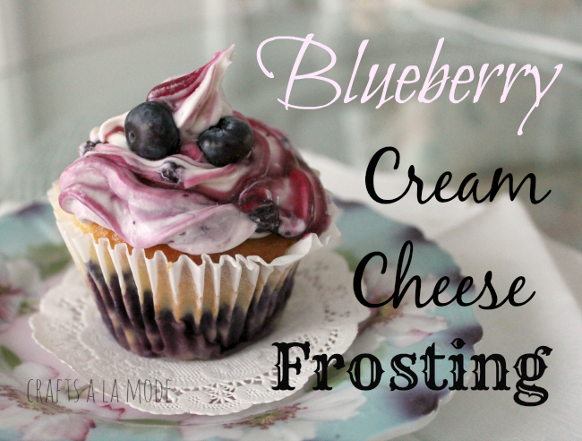 Yummy blueberry cream cheese frosting.