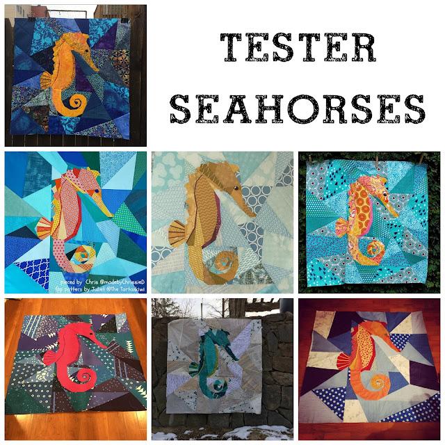 Paper Pieced Seaohorses