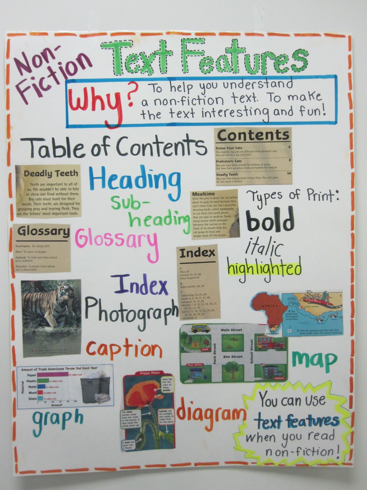 Second Grade Style Teaching Text Features