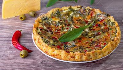 Recette de Tarte aux olives et fromage