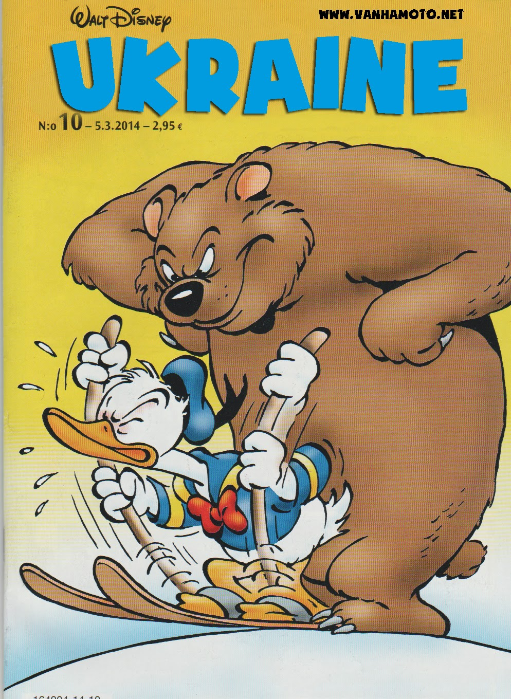 Ukraine and the Big Bad Bear -  Russia, Ukraine, Donald Duck, Aku Ankka, cover
