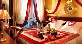 gambar dekorasi kamar tidur romantis untuk suami istri