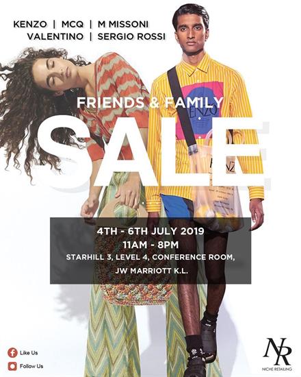 Niche Retailing: Friends & Family Sale @ Starhill 3,JW Marriott KL