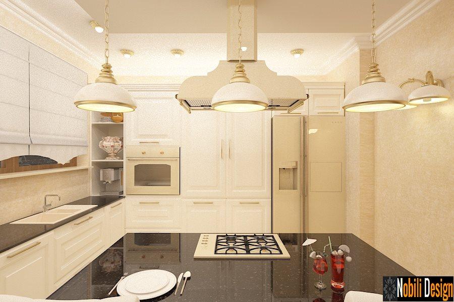 Design interior bucatarie clasic de lux - Amenajari interioare case clasice