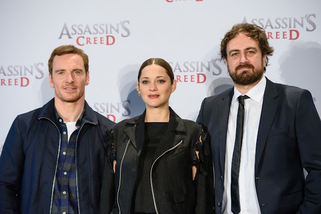 Michael Fassbender, Marion Cotillard y Justin Kurzel Assassin's Creed Movie