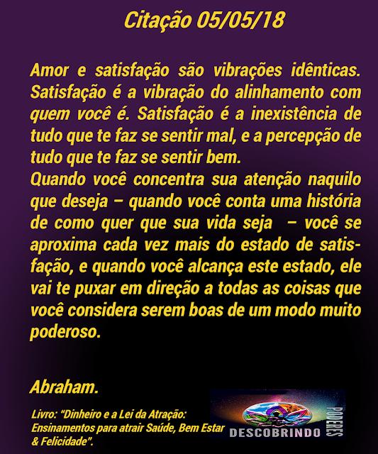Citações de Abraham - citação do dia 05/05/2018
