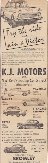 K J Motors Ltd 1957 advert 02