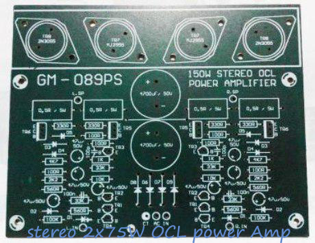 PCB Design Mono 75W OCL Power Amplifier