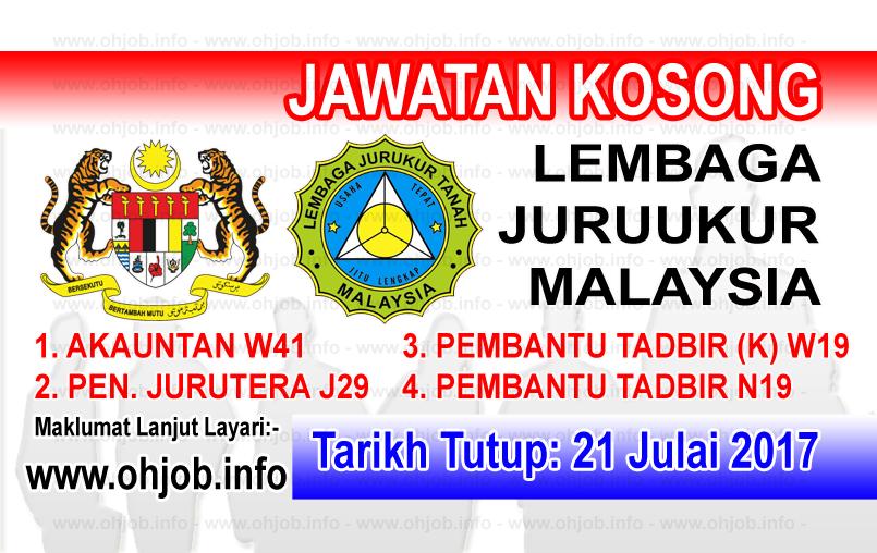 Jawatan Kerja Kosong Lembaga Juruukur Tanah logo www.ohjob.info julai 2017