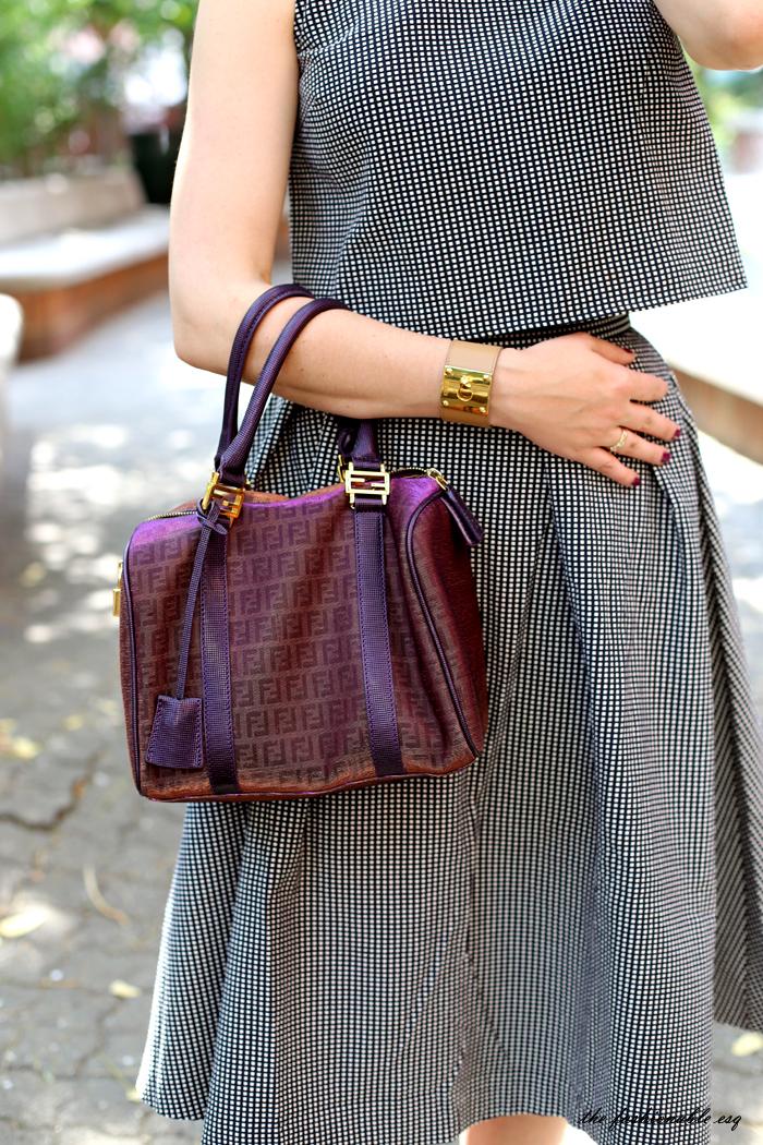 Purple Fendi Boston Bag